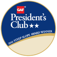 GAF's President's Club Award, Roofing Contractor, Solar Installation Services